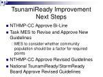 tsunamiready improvement next steps