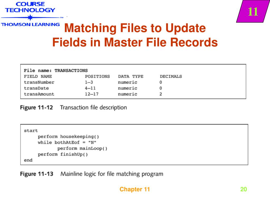 PPT - Sequential File Merging, Matching, and Updating PowerPoint