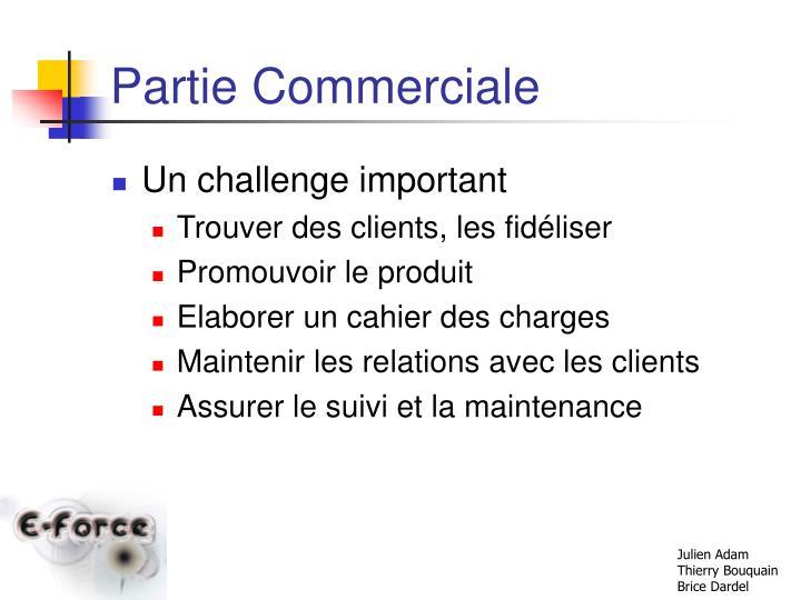 Partie Commerciale