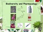 biodiversity and pharmacology