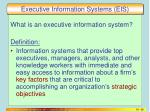 executive information systems eis