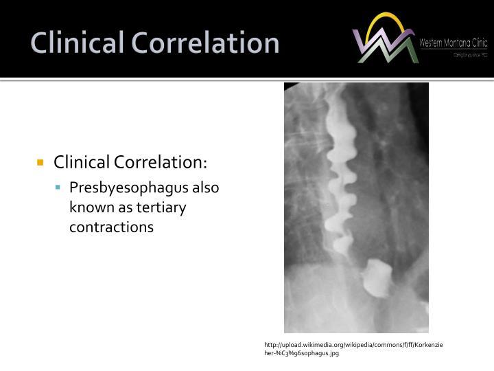 Clinical Correlation