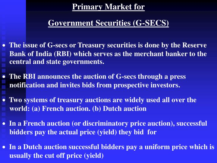 Primary Market for