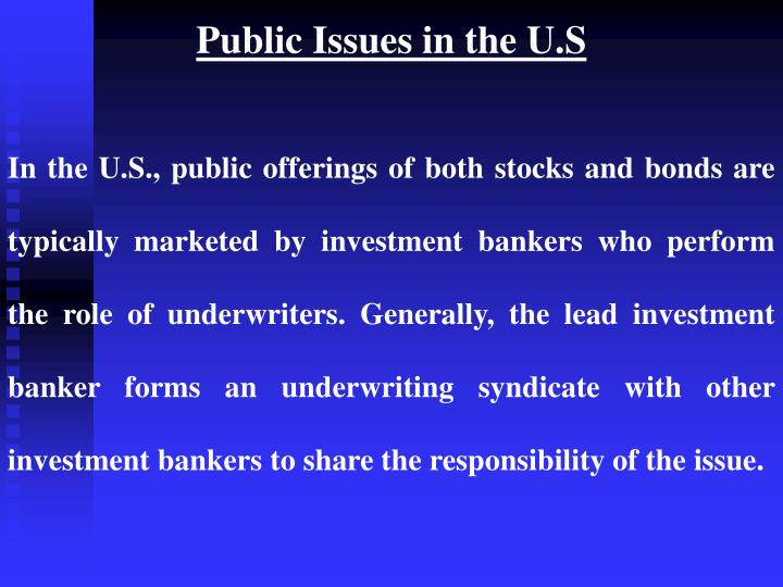 Public Issues in the U.S