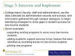 stage 3 innovate and implement