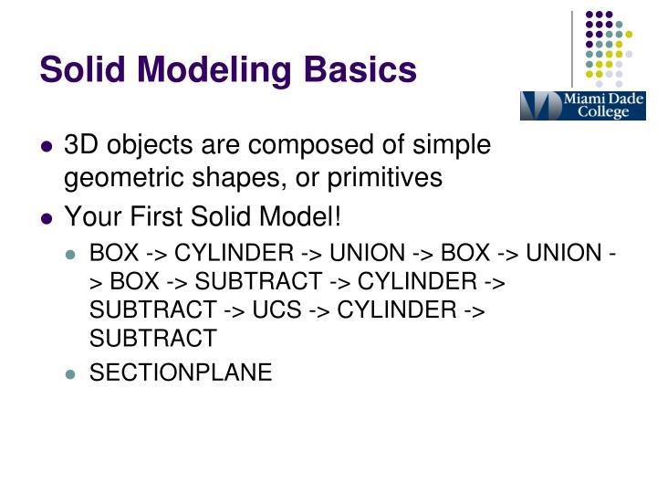Solid Modeling Basics