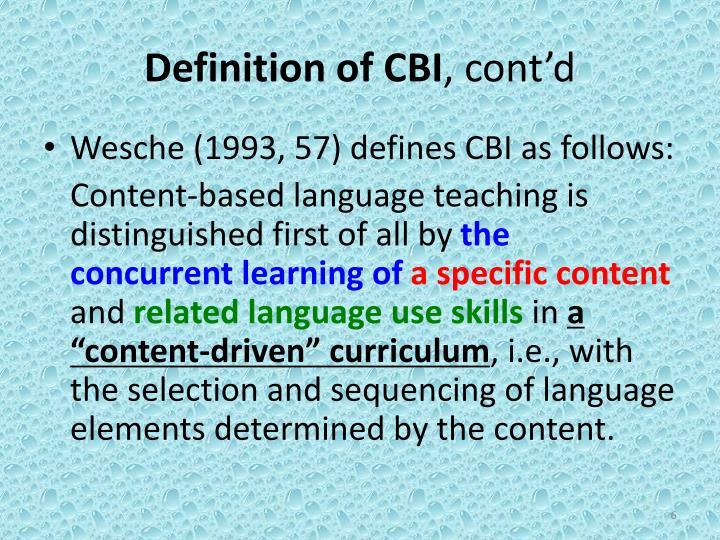 Definition of CBI