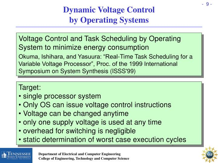 Dynamic Voltage Control