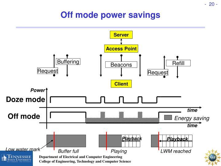 Off mode power savings