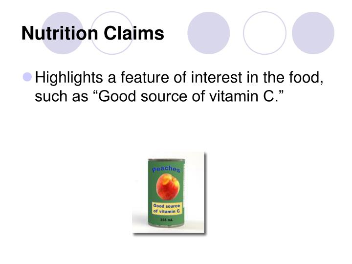 Nutrition Claims