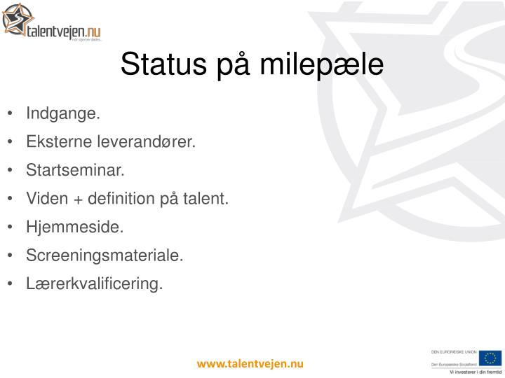 Status p milep le