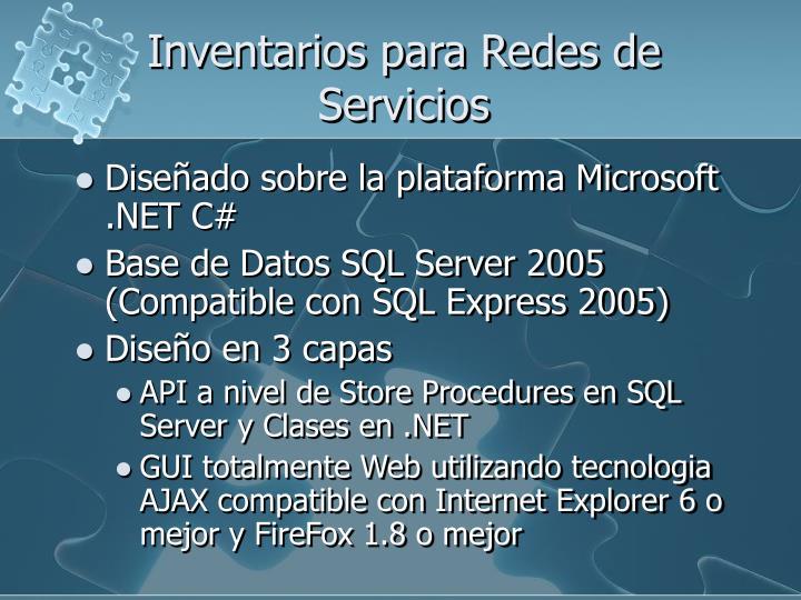 Inventarios para Redes de Servicios