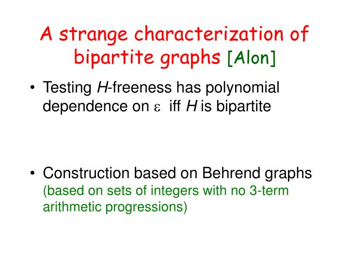 A strange characterization of bipartite graphs
