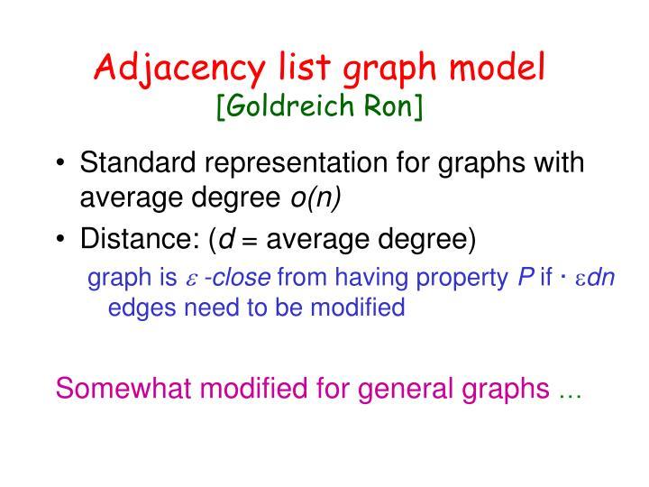 Adjacency list graph model