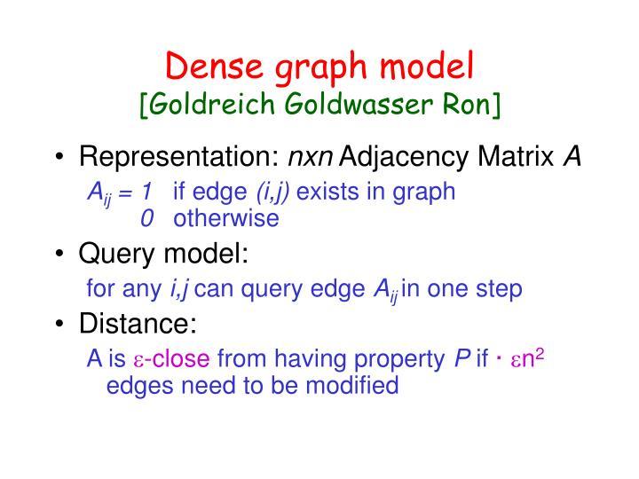 Dense graph model