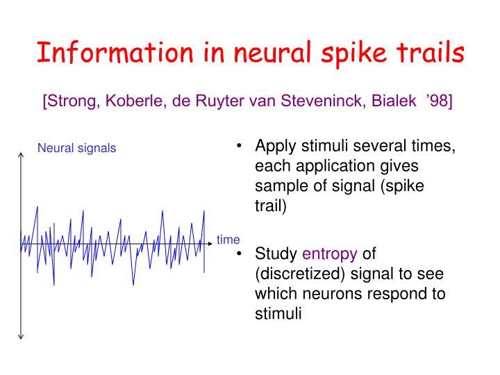 Neural signals