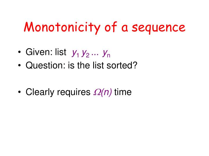 Monotonicity of a sequence