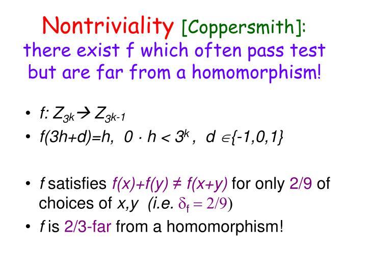 Nontriviality