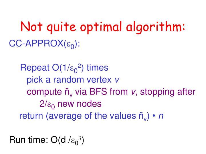 Not quite optimal algorithm: