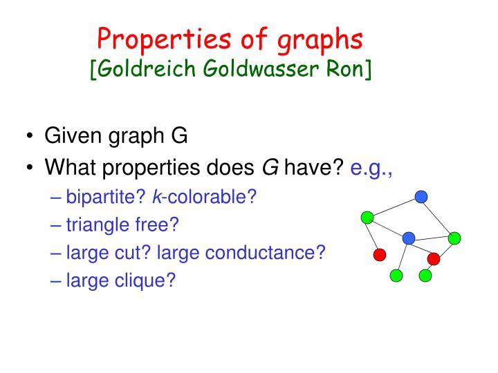 Properties of graphs