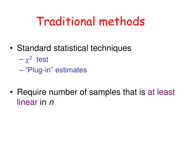 Traditional methods