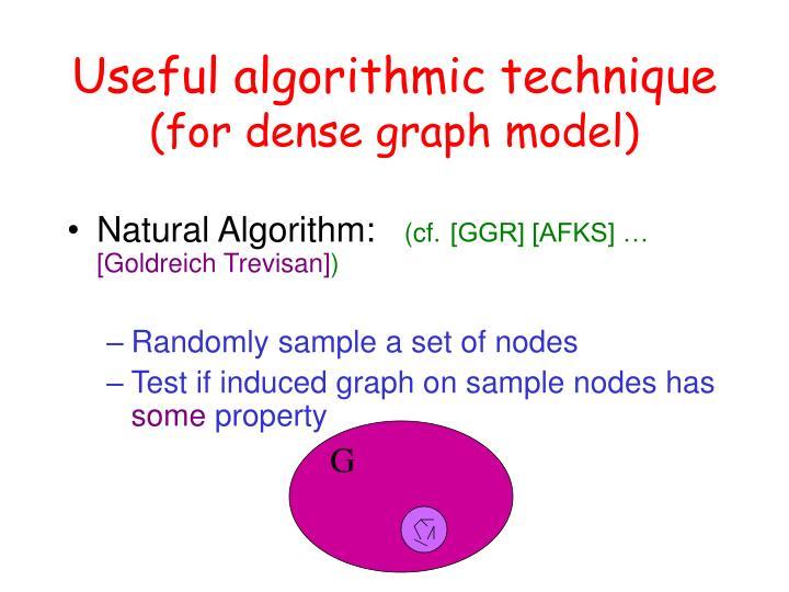 Useful algorithmic technique