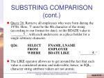 substring comparison cont1