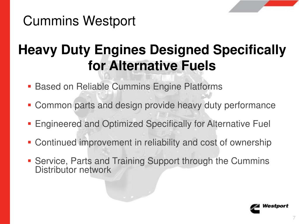 PPT - Cummins Westport The Natural Choice PowerPoint Presentation