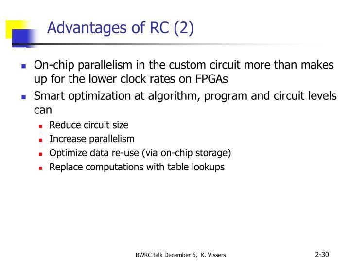 Advantages of RC (2)