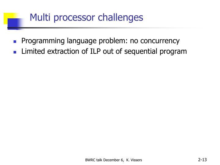 Multi processor challenges