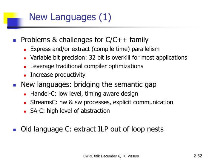 New Languages (1)