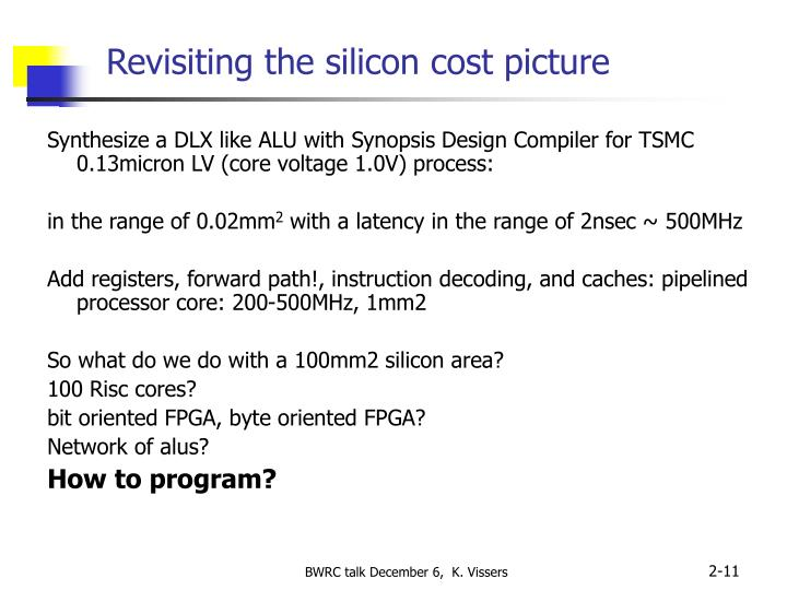 Revisiting the silicon cost picture