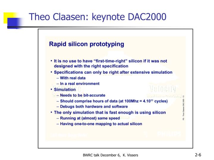 Theo Claasen: keynote DAC2000