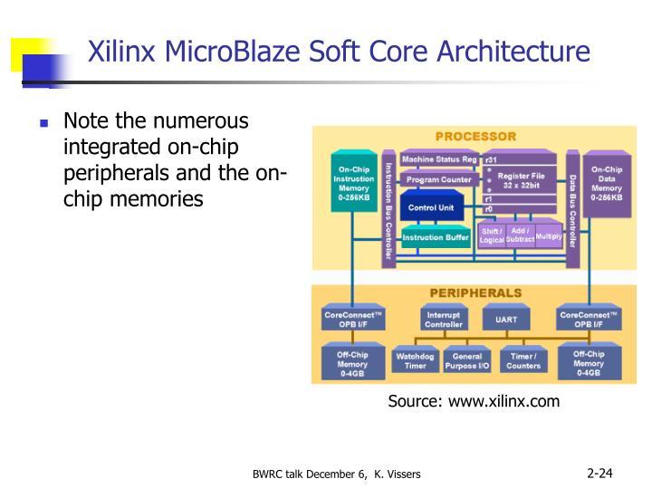 Xilinx MicroBlaze Soft Core Architecture