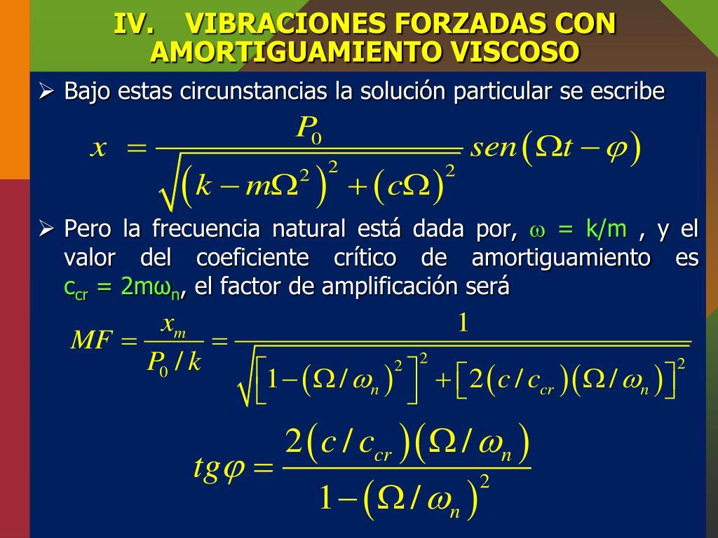Vibración forzada en fisica definicion