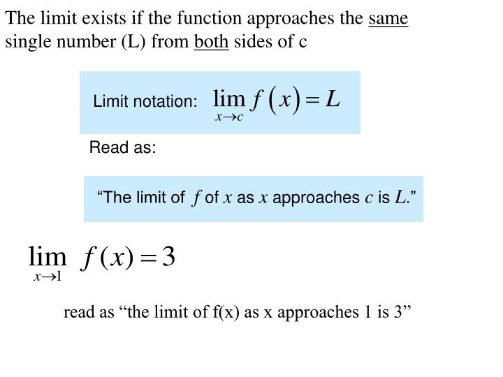 """""""The limit of"""