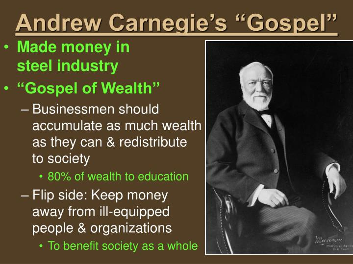 "Andrew Carnegie's ""Gospel"""