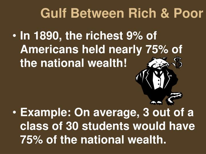 Gulf Between Rich & Poor