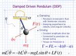 damped driven pendulum ddp