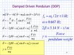 damped driven pendulum ddp1