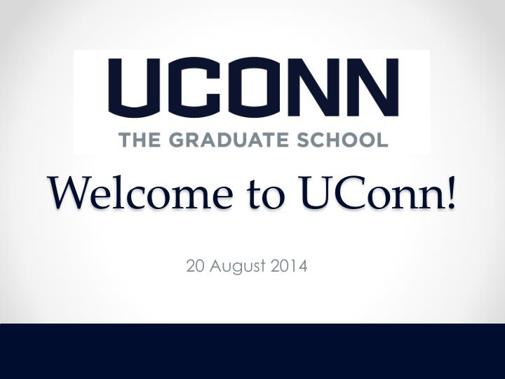 welcome to uconn n.