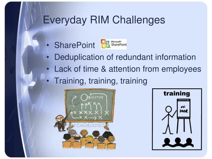 Everyday RIM Challenges