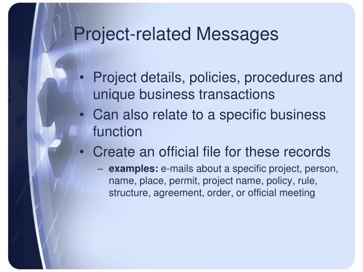 Project-related Messages