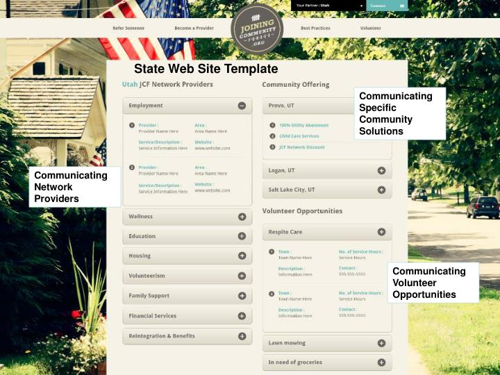 State Web Site Template