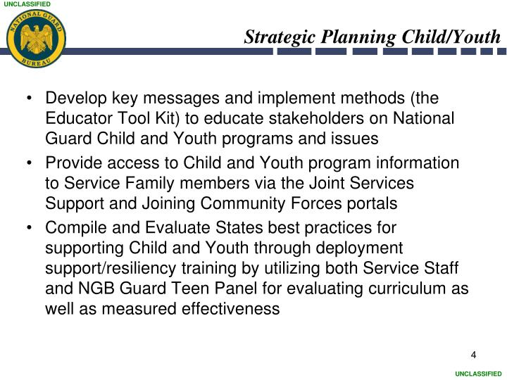 Strategic Planning Child/Youth