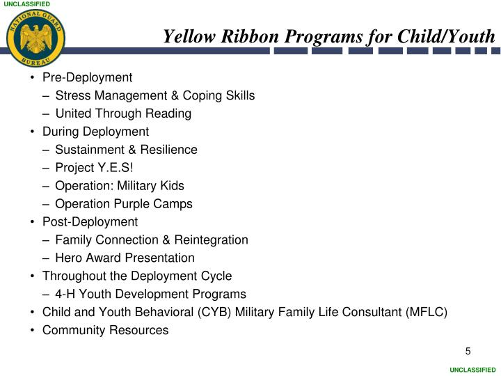 Yellow Ribbon Programs for Child/Youth