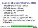 baseline characteristics 1 n 3035