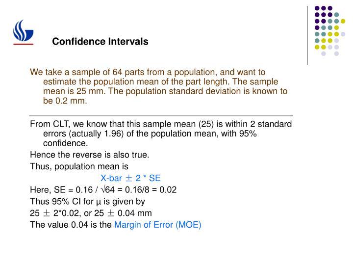 Confidence Intervals