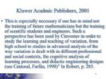 kluwer acadmic publishers 2001