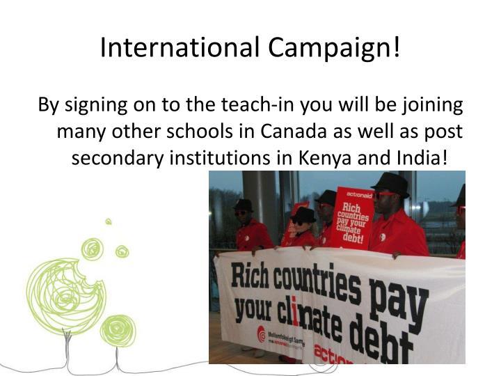 International Campaign!